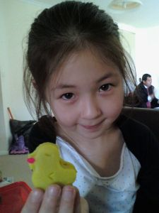Ayiana with her duck